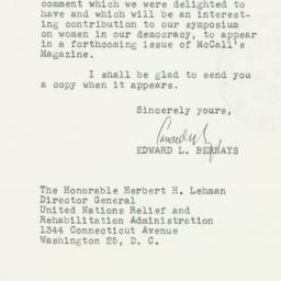 Letter: 1946 March 6