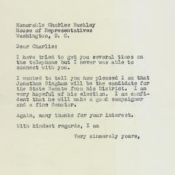 Letter: 1958 May 6