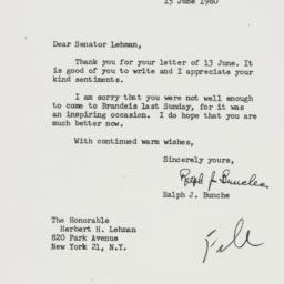 Letter: 1960 June 15