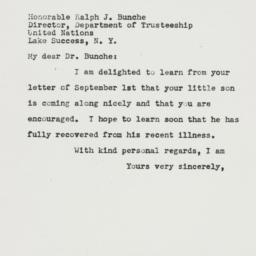 Letter: 1950 September 8