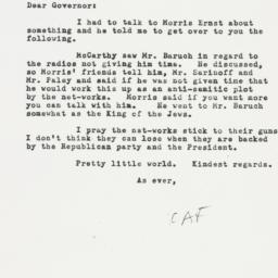 Letter: 1954 March 12