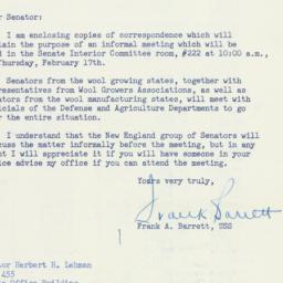Letter: 1955 February 12