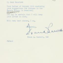 Letter: 1954 January 13