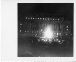 Bonfire in Front of Butler Library