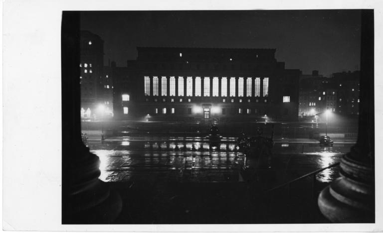 butler-library-at-night