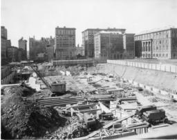 Butler Library Construction Pit