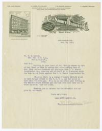 Cass-Smurr-Damerel Co.. Letter - Recto