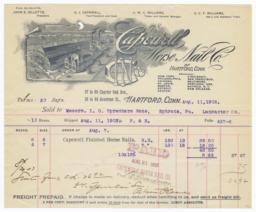 Capewell Horse Nail Co.. Bill - Recto