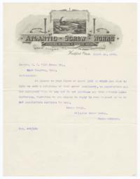 Atlantic Screw Works. Letter - Recto