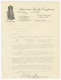 American Surety Company. Bill - Recto
