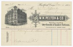 W. N. Pelton & Co.. Bill - Recto