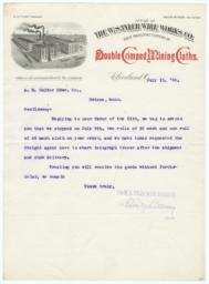 W. S. Tyler Wire Works. Letter - Recto