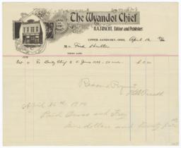 Wyandot Chief. Bill - Recto