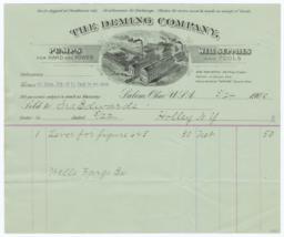 Deming Company. Bill - Recto