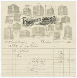 Browning, King and Co.. Bill - Recto