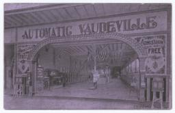 Automatic Vaudville Parlor. Card stock - Recto