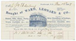 Ward, Leonard & Co.. Bill - Recto