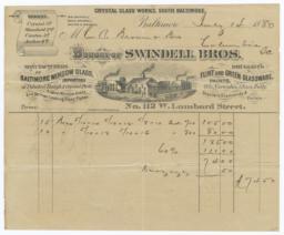 Swindell Bros.. Bill - Recto