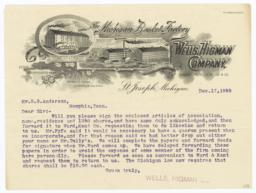 Wells, Higman Company. Letter - Recto