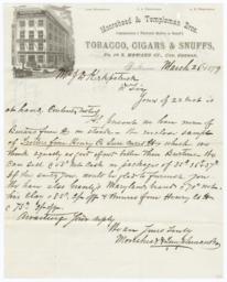 Moorehead & Templeman Bros.. Letter - Recto