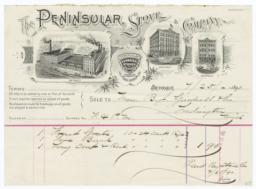 Peninsular Stove Company. Letter - Recto