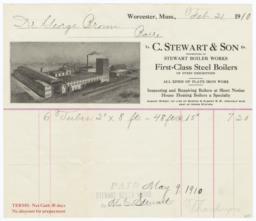 C. Stewart & Son. Bill - Recto