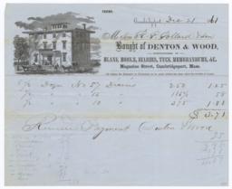 Denton & Wood. Bill - Recto