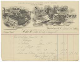 Phenix Iron Foundry. Bill - Recto