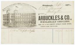 Arbuckles & Co.. Bill - Recto