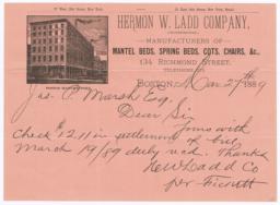 Hermon W. Ladd Company. Letter - Recto