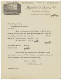 Bigelow & Dowse Co.. Letter - Recto