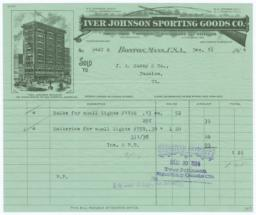 Iver Johnson Sporting Goods Co.. Bill - Recto