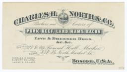 Charles H. North & Co.. Card stock - Verso