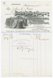 Boston Belting Company. Bill - Recto