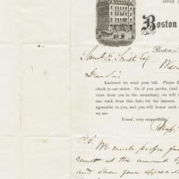 Boston Post. Letter