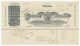 Wright Bros. & James. Bill - Recto