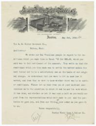Boston Woven Hose & Rubber Co.. Letter - Recto