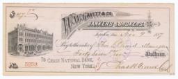 W. W. Gavitt & Co.. Check - Recto