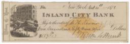 Island City Bank. Check - Recto