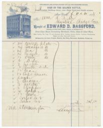 Edward D. Bassford. Bill - Recto