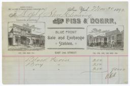 Fiss & Doerr. Bill - Recto