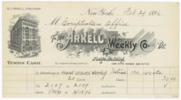 Arkell Weekly Co.. Bill - Recto