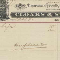 American Novelty Cloak Co.....
