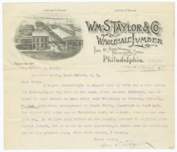 Wm. S. Taylor & Co.. Letter - Recto