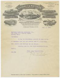 Keasbey & Mattison Company. Letter - Recto