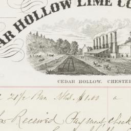 Cedar Hollow Lime Company. ...