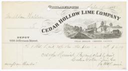 Cedar Hollow Lime Company. Bill - Recto