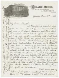 Girard House. Letter - Recto