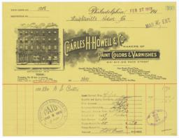 Charles H. Howell & Co.. Bill - Recto