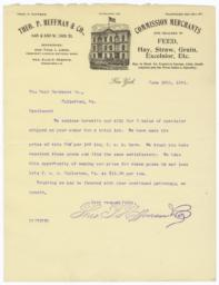 Theo. P. Huffman & Co.. Letter - Recto